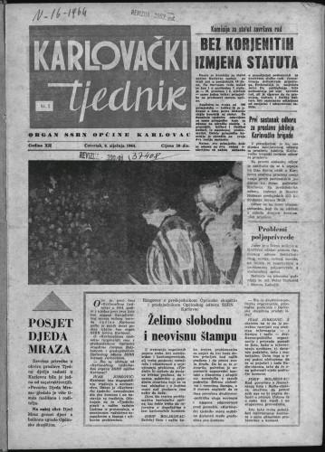 Karlovački tjednik: 1964 • 1