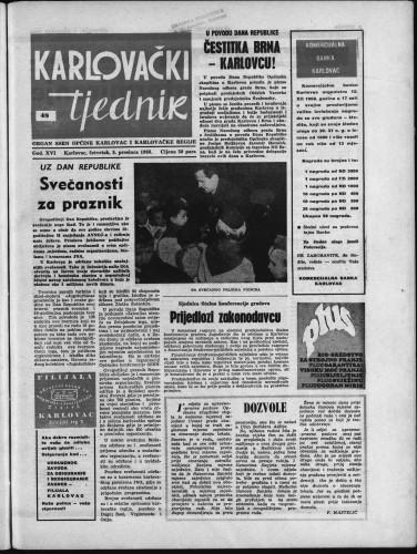 Karlovački tjednik: 1968 • 48
