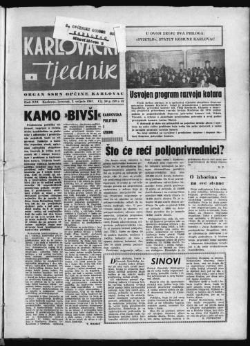Karlovački tjednik: 1967 • 4