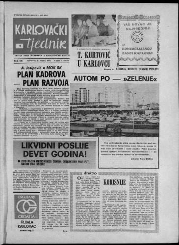 Karlovački tjednik: 1973 • 9