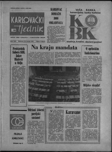 Karlovački tjednik: 1974 • 16
