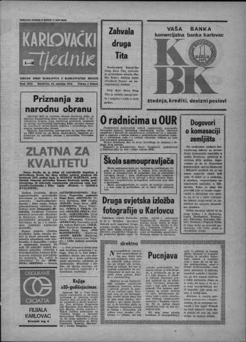 Karlovački tjednik: 1974 • 1