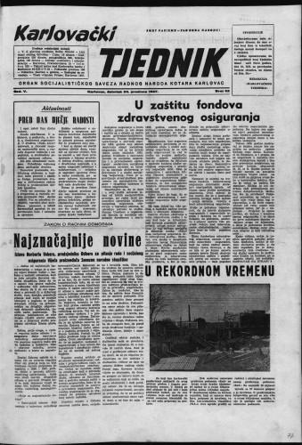 Karlovački tjednik: 1957 • 52