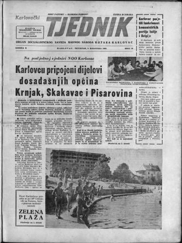 Karlovački tjednik: 1962 • 30