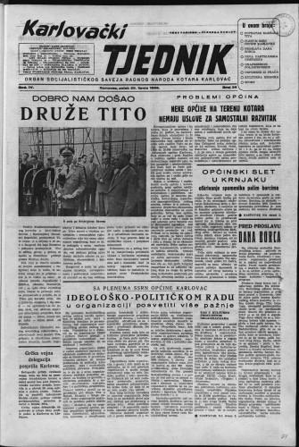 Karlovački tjednik: 1956 • 26