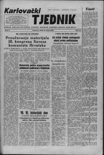 Karlovački tjednik: 1954 • 25