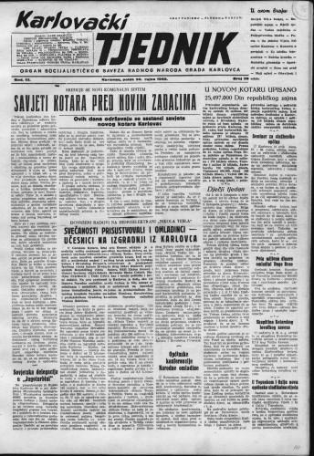 Karlovački tjednik: 1955 • 39