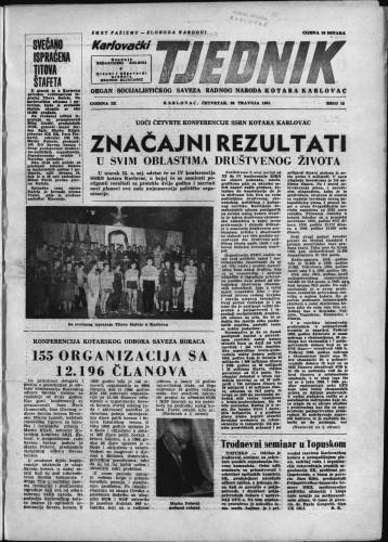 Karlovački tjednik: 1961 • 15