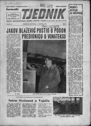 Karlovački tjednik: 1962 • 1