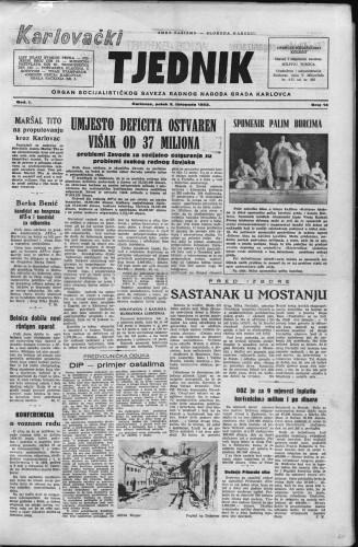 Karlovački tjednik: 1953 • 14