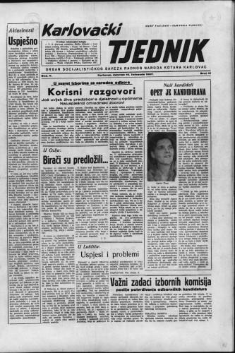 Karlovački tjednik: 1957 • 41