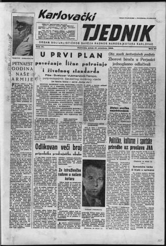 Karlovački tjednik: 1956 • 51