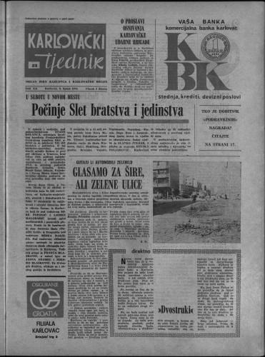 Karlovački tjednik: 1974 • 23