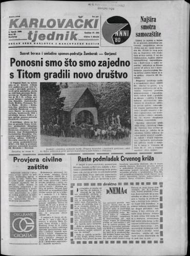Karlovački tjednik: 1980 • 22