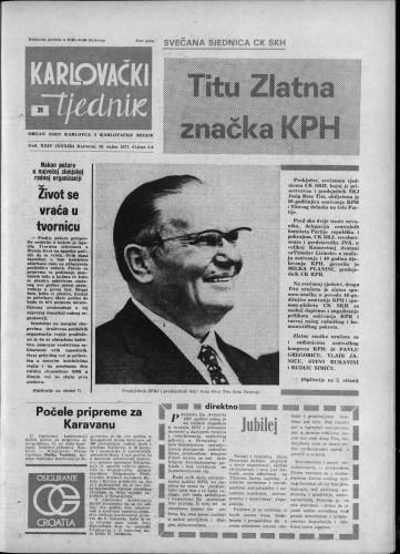 Karlovački tjednik: 1977 • 39