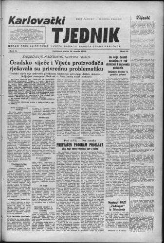 Karlovački tjednik: 1954 • 29