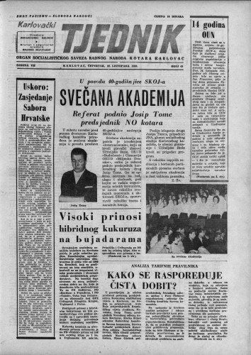 Karlovački tjednik: 1959 • 43