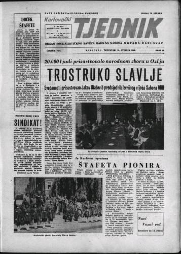 Karlovački tjednik: 1960 • 19