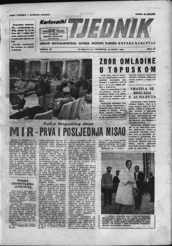 Karlovački tjednik: 1961 • 36