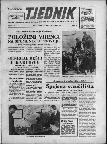 Karlovački tjednik: 1962 • 18