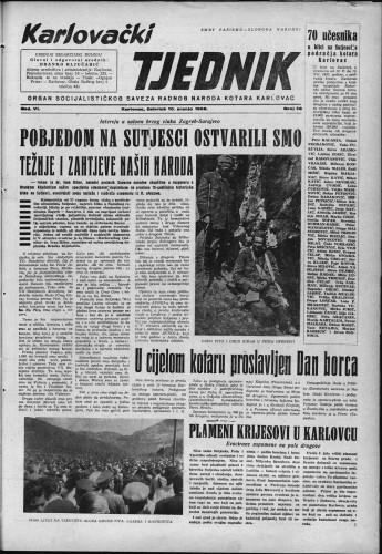 Karlovački tjednik: 1958 • 28