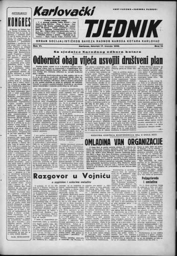 Karlovački tjednik: 1958 • 16