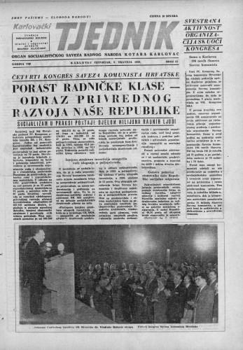 Karlovački tjednik: 1959 • 15