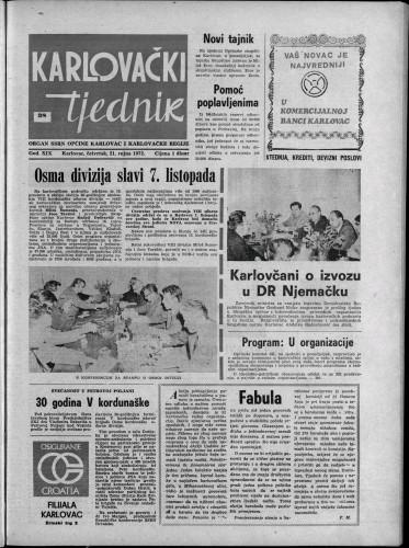 Karlovački tjednik: 1972 • 38