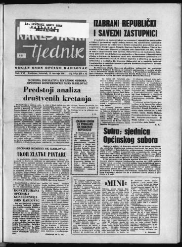Karlovački tjednik: 1967 • 14