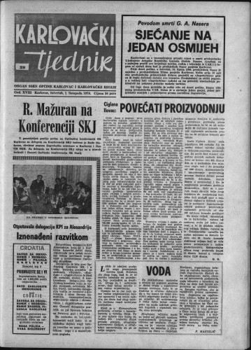 Karlovački tjednik: 1970 • 39