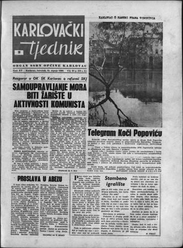 Karlovački tjednik: 1966 • 28