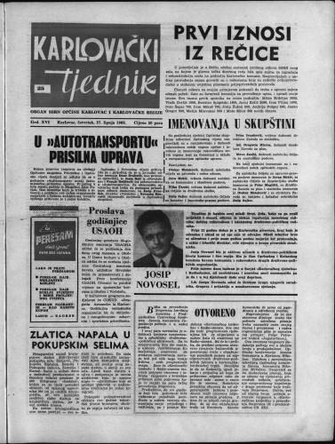 Karlovački tjednik: 1968 • 25