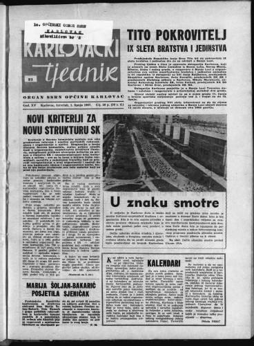 Karlovački tjednik: 1967 • 21