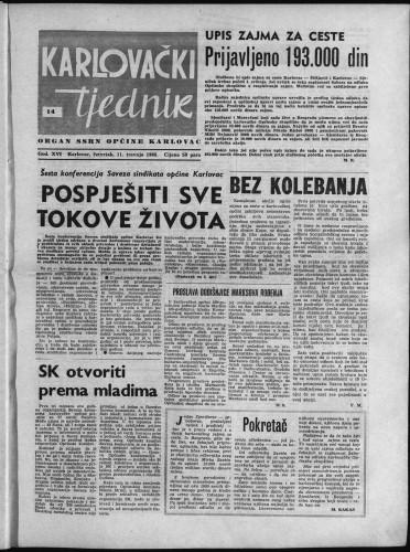 Karlovački tjednik: 1968 • 14