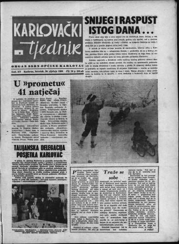 Karlovački tjednik: 1966 • 2