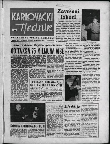 Karlovački tjednik: 1965 • 16