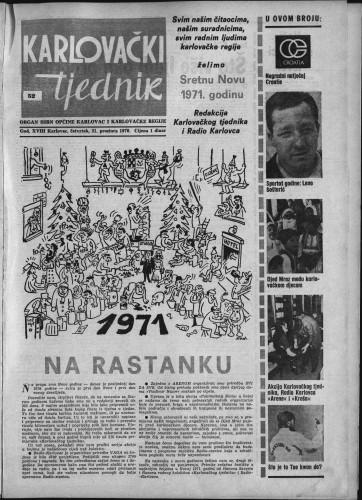 Karlovački tjednik: 1970 • 52