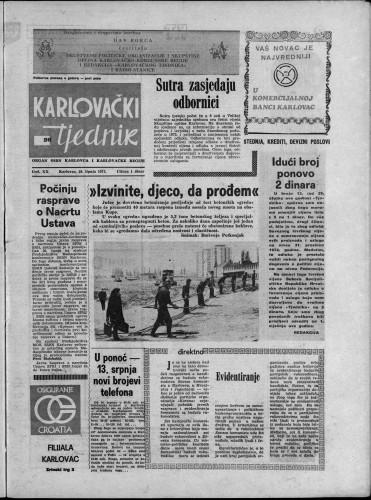Karlovački tjednik: 1973 • 26