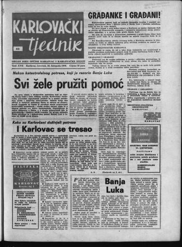 Karlovački tjednik: 1969 • 43