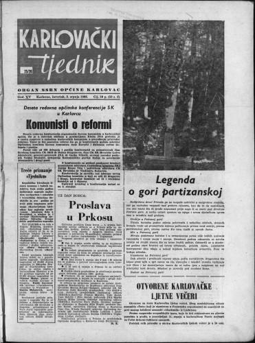 Karlovački tjednik: 1966 • 25