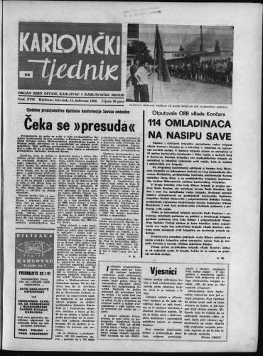 Karlovački tjednik: 1969 • 32