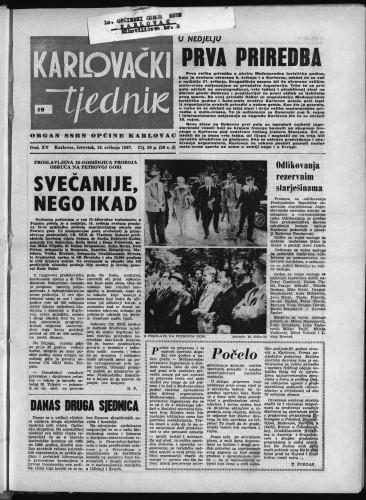 Karlovački tjednik: 1967 • 19