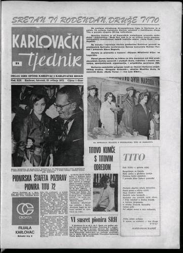 Karlovački tjednik: 1972 • 21