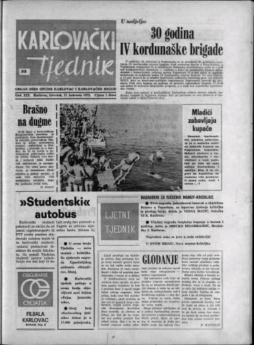 Karlovački tjednik: 1972 • 33