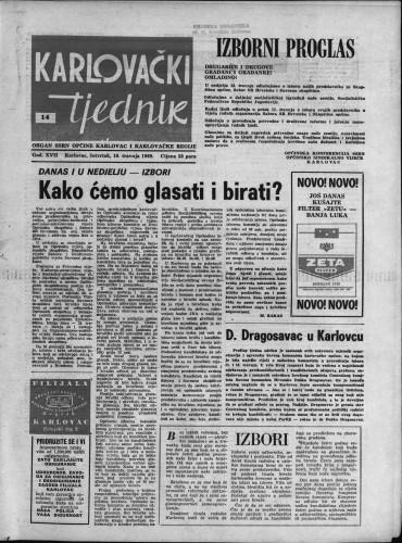 Karlovački tjednik: 1969 • 14
