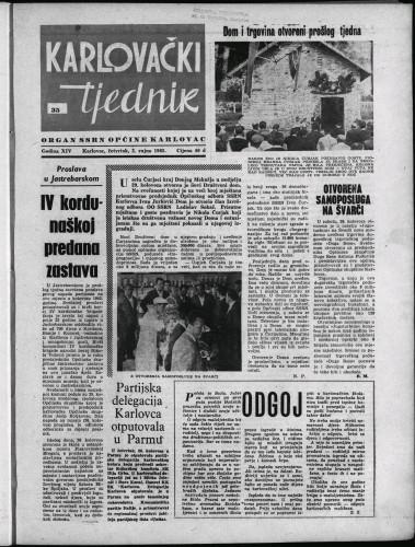 Karlovački tjednik: 1965 • 35