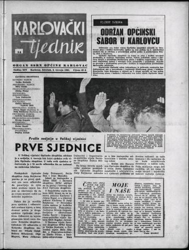 Karlovački tjednik: 1965 • 14