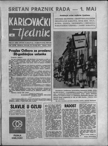 Karlovački tjednik: 1971 • 17