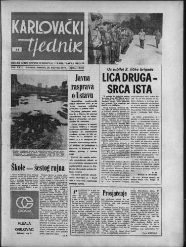 Karlovački tjednik: 1971 • 34