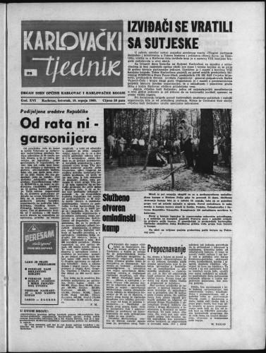 Karlovački tjednik: 1968 • 28